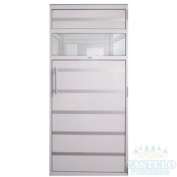 Porta de Alumínio Branco 0,99x1,99 m com contra marco para Sauna a vapor