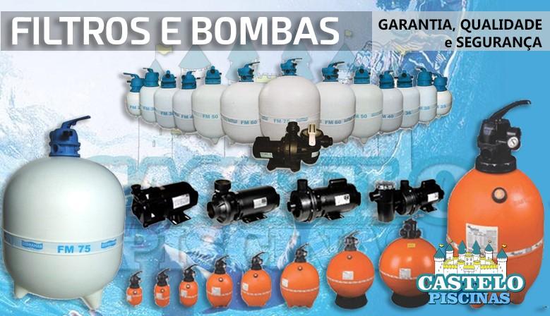 Filtros e bombas para piscinas de diversas marcas